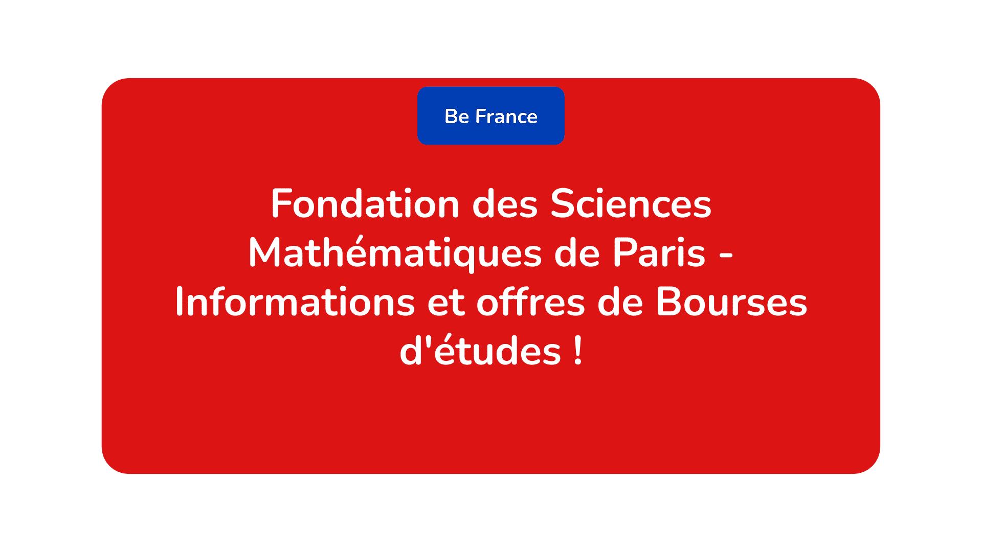 Fondation des Sciences Mathématiques de Paris
