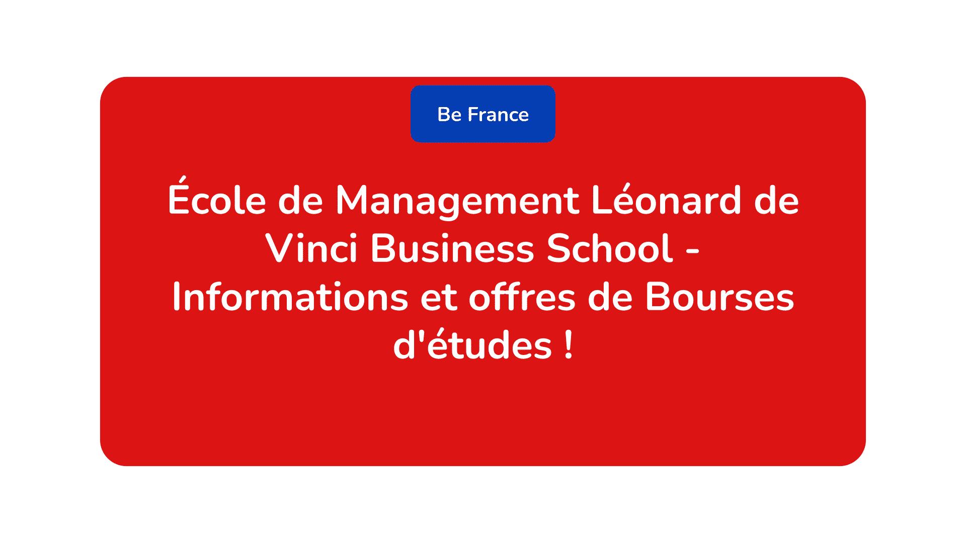 École de Management Léonard de Vinci Business School